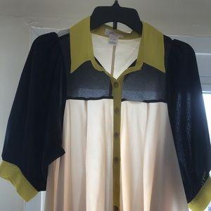 Freeway Color Block Shirt Size L